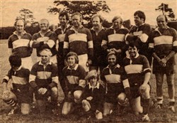 4 newspaper photographs from a Rugby event