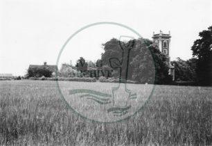 Photograph of St Mary Magdalen Church, Willen (1971).