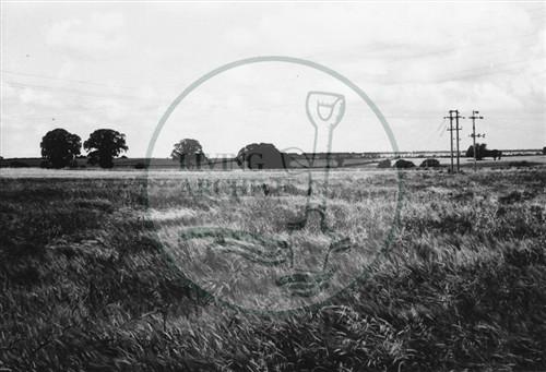 Photograph of Bradwell Abbey farmlands (1971).