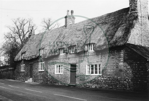 Photograph of Old Bradwell cottages (1971).