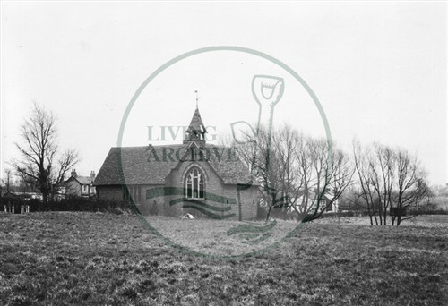 Photograph of old school chapel Loughton Upon the Green (1971).