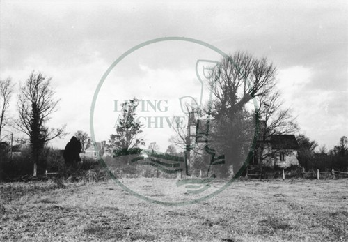 Photograph of church looking towards Woolstone (1971).
