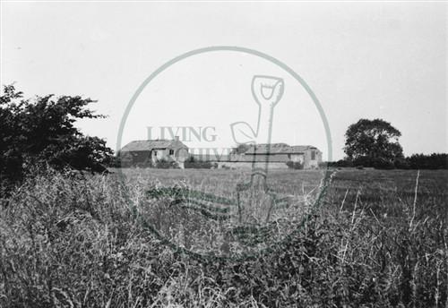 Photograph of derelict farm on land now Central Milton Keynes (1971).