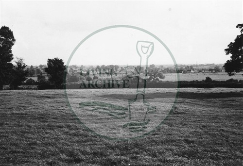 Photograph of fields at Stacey Hill Farm (1971).
