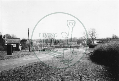 Photograph of village of Shenley Brook End 1975.