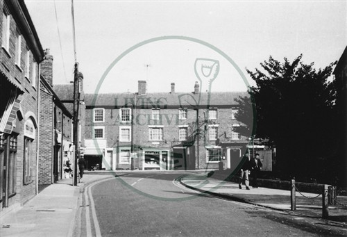 Photograph of Stony Stratford Church Street (1971).