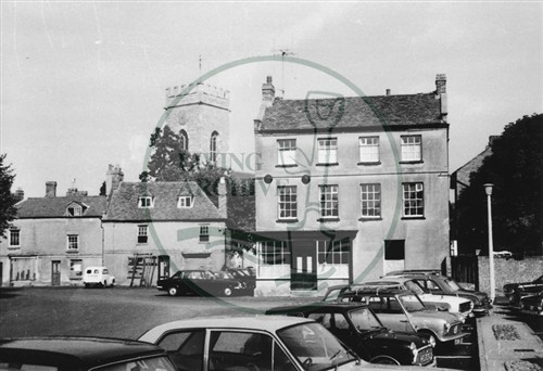 Photograph of Stony Stratford Market Square (1971).
