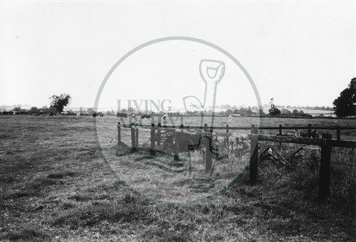 Photograph of fields between Milton Keynes and site of Central Milton Keynes (1971).