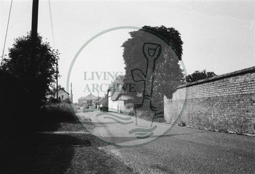 Photograph of Milton Keynes village road going into the village (1971).