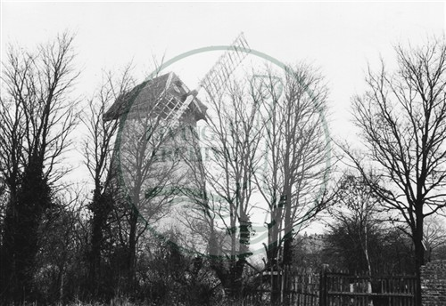 Photograph of new Bradwell windmill (1971).