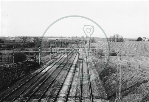 Photograph of railway lines at Old Bradwell 1974.