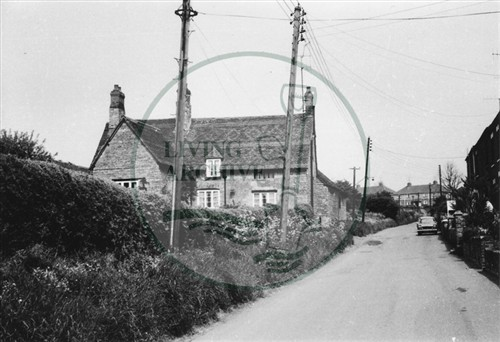 Photograph of farmhouse at Old Bradwell (1971).