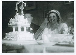 Frank Brown and Beryl Taylor on their wedding day.