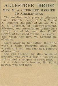 Allestree Bride