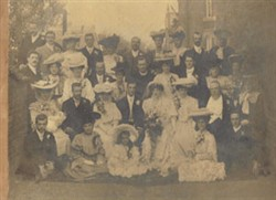 Frank Brown and Blanche Wildman's  wedding.