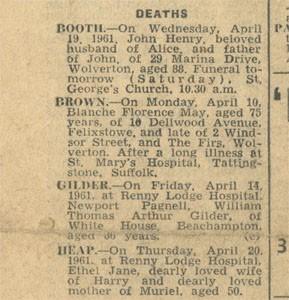 Deaths.