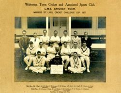 Winners of the L.M.S  Cricket  Challenge Cup 1927.
