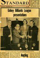 Gobey Billiards League presentations.