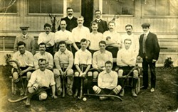 Photograph of the Hockey team.