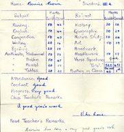 Wolverton Junior School report 1954.