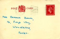 Postcard addressed to Berenice Brown.