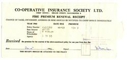 Fire Insurance Receipt.