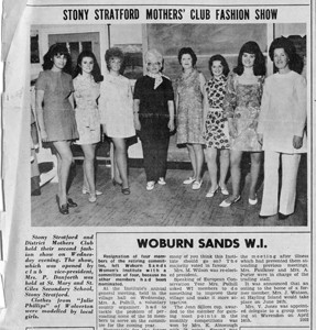 Stony Stratford Mothers' Club Fashion Show.