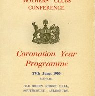 Buckinghamshire Mothers' Clubs Conference Coronation Year Programme.
