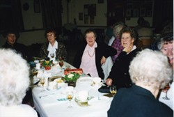 Photographs of Mothers' Club event.