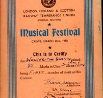 Music Festival Certificate.