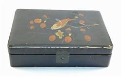 Black lacquered box.