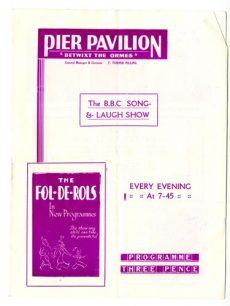 Pier Pavilion programme.