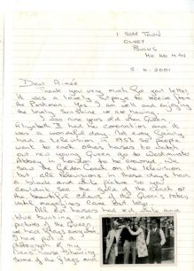 Letter to Aimee about the coronation of Elizabeth II.