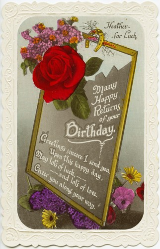 Many happy returns of your birthday