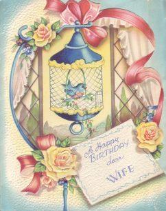 A Happy Birthday dear Wife.