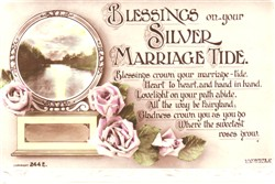 Blessings on your Silver Marriage Tide.