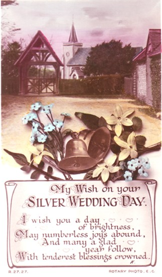 My Wish on your Silver Wedding Day.