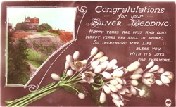 Congratulations for your Silver wedding.