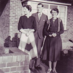 Frank and Beryl Brown and Lou Taylor.