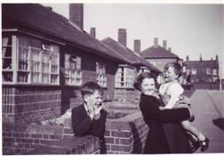 Christopher, Bernice and Richard Brown.