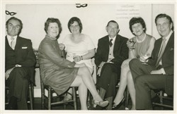 Beryl and Frank Brown with a group of friends.