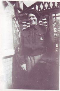Frank Brown in his ARP Warden uniform.