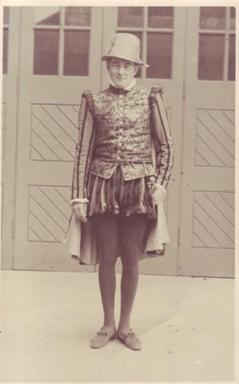 Frank Brown dressed as Sir Walter Raleigh.