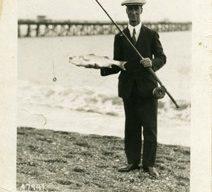 Postcard  of Frank at Felixstowe.