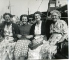 The Browns on the ferry 'Brightlingsea'.