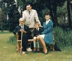 The Franks, Edward and Bernice in the grounds of Tickford Abbey Nursing Home.