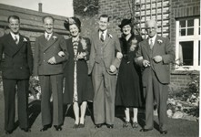 Hubert Taylor and family before his wedding.