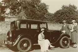 Frank Harry Brown's first car.
