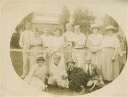 Tennis players including Frank and Florence Brown.