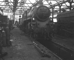 59-ton 4MT engine no. 76039,  maintained in Bletchley Loco Shed c.1955.   (Accession Ref: RWS/P/151).